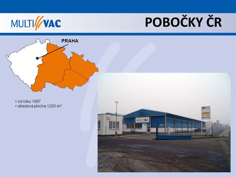 POBOČKY ČR PRAHA od roku 1997 skladová plocha 1200 m 2