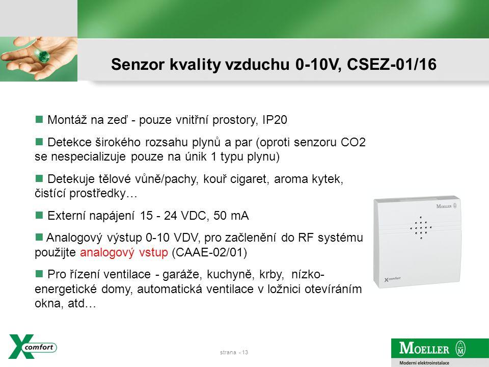 strana - 12 Senzor osvětlení vnitřní a venkovní, CSEZ-01/14 a CSEZ01/15