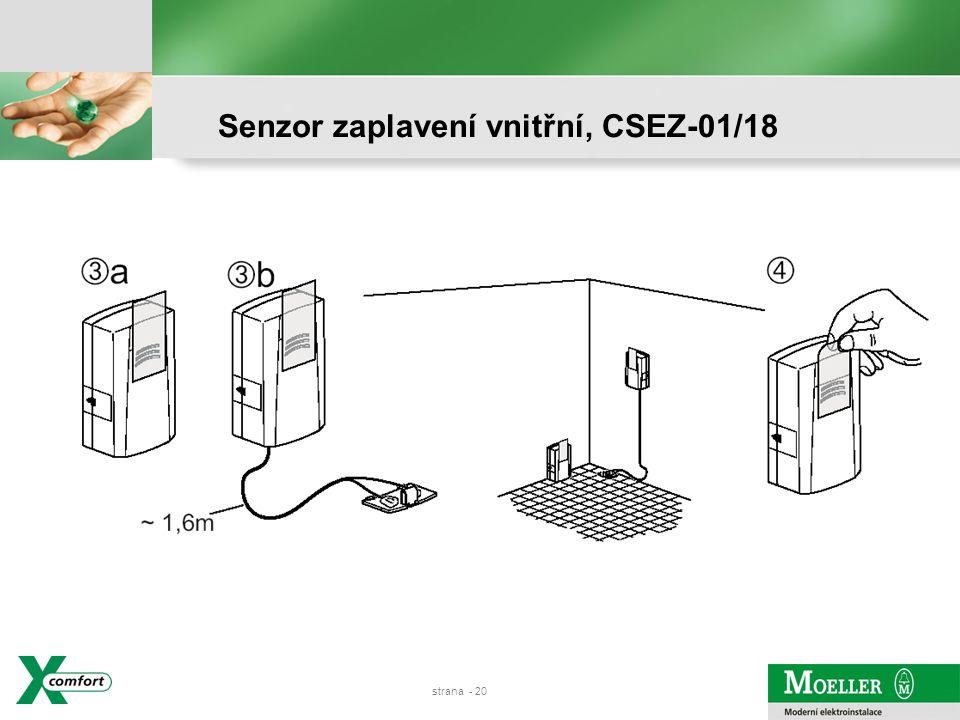 strana - 19 Senzor zaplavení vnitřní, CSEZ-01/18
