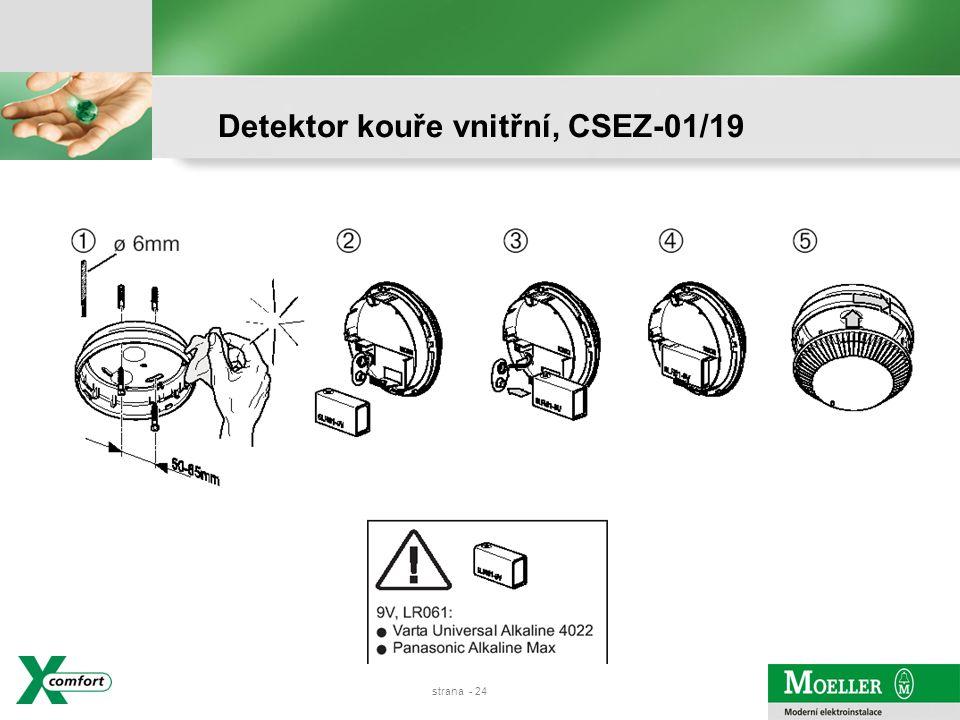 strana - 23 Detektor kouře vnitřní, CSEZ-01/19
