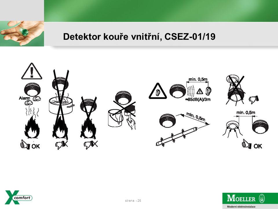 strana - 24 Detektor kouře vnitřní, CSEZ-01/19
