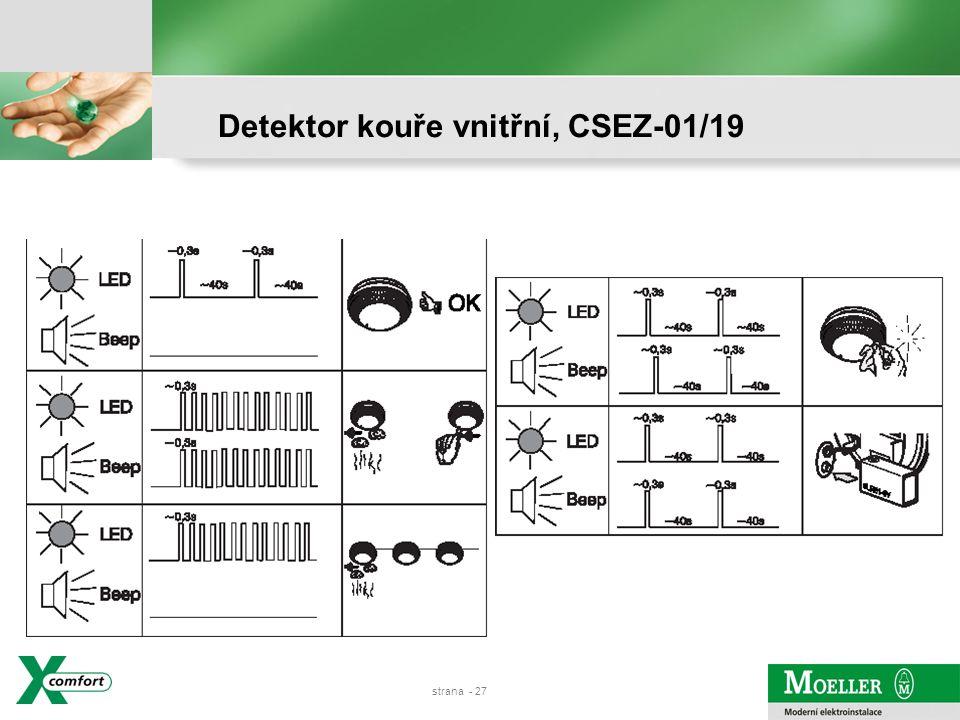 strana - 26 Detektor kouře vnitřní, CSEZ-01/19