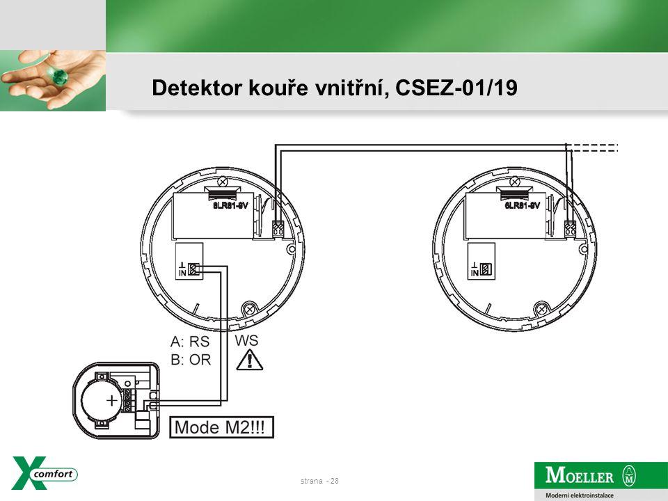 strana - 27 Detektor kouře vnitřní, CSEZ-01/19