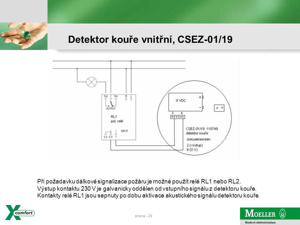 strana - 28 Detektor kouře vnitřní, CSEZ-01/19