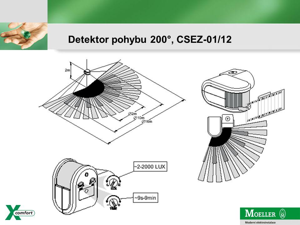 strana - 3 Detektor pohybu 200°, CSEZ-01/12