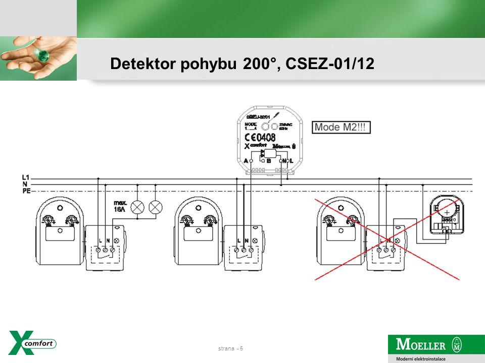 strana - 4 Detektor pohybu 200°, CSEZ-01/12