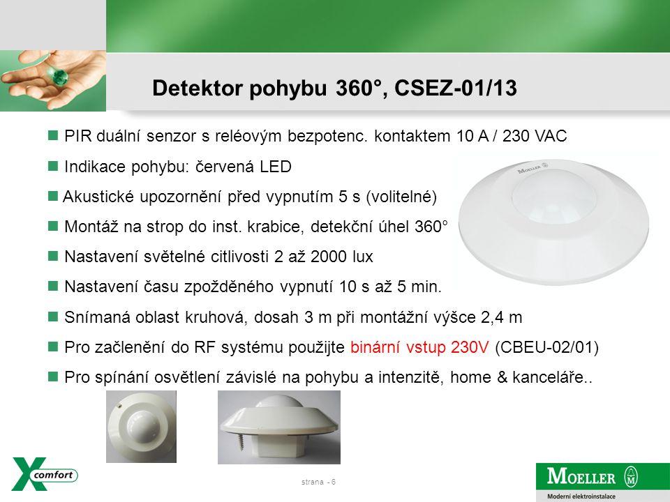 strana - 5 Detektor pohybu 200°, CSEZ-01/12