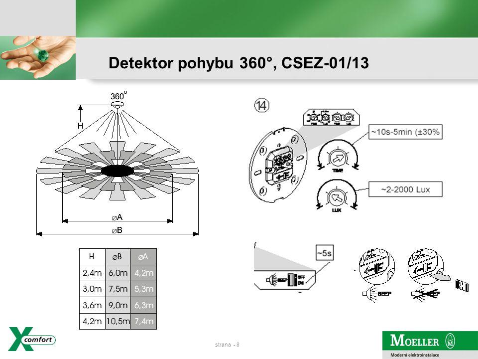 strana - 7 Detektor pohybu 360°, CSEZ-01/13