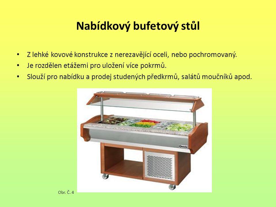 Odkládací stoly Na odkládání použitého inventáře například umýváren.