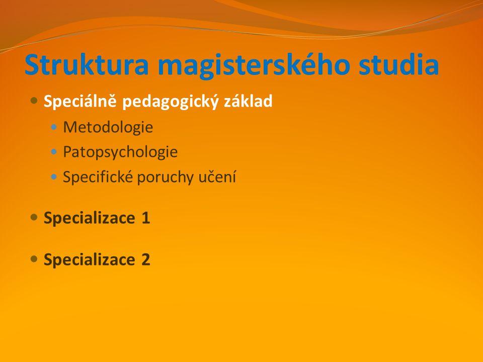 Specializace 1 A.Didaktika pro vyučování žáků se speciálními vzdělávacími potřebami B.
