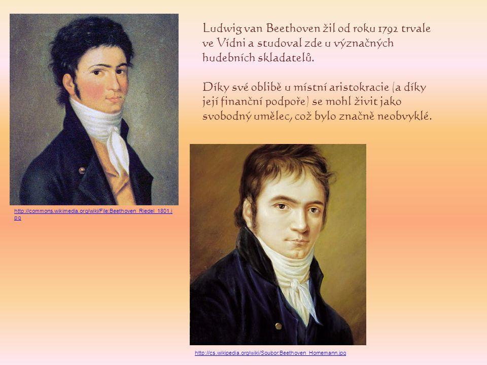 Ludwig van Beethoven žil od roku 1792 trvale ve Vídni a studoval zde u význačných hudebních skladatelů. Díky své oblibě u místní aristokracie (a díky