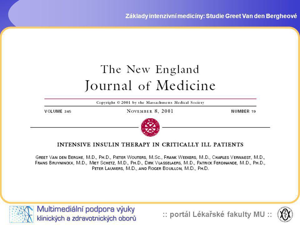 :: portál Lékařské fakulty MU :: Základy intenzivní medicíny: Studie Greet Van den Bergheové