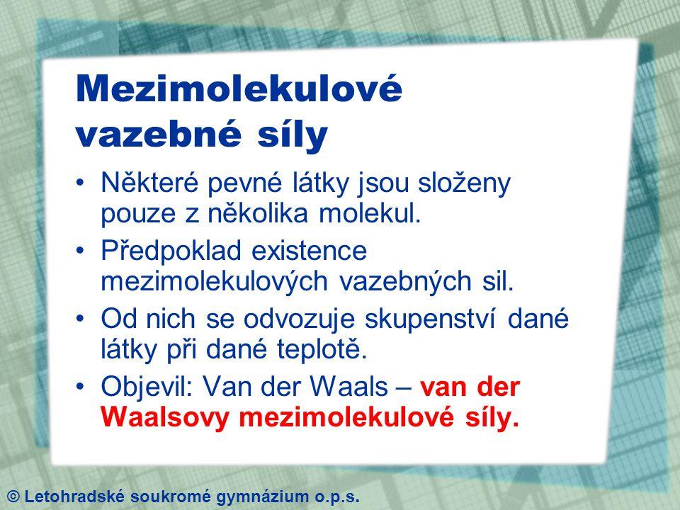Johannes Diderik van der Waals © Letohradské soukromé gymnázium o.p.s.