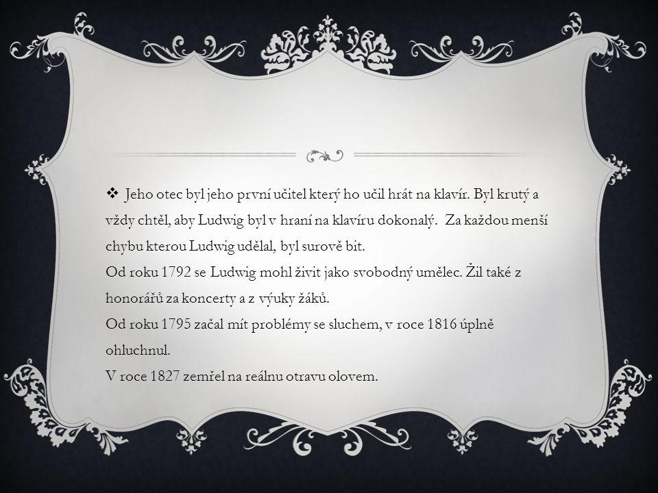 DÍLA LUDWIGA VANA BEETHOVENA  - 9 symfonií ( III.