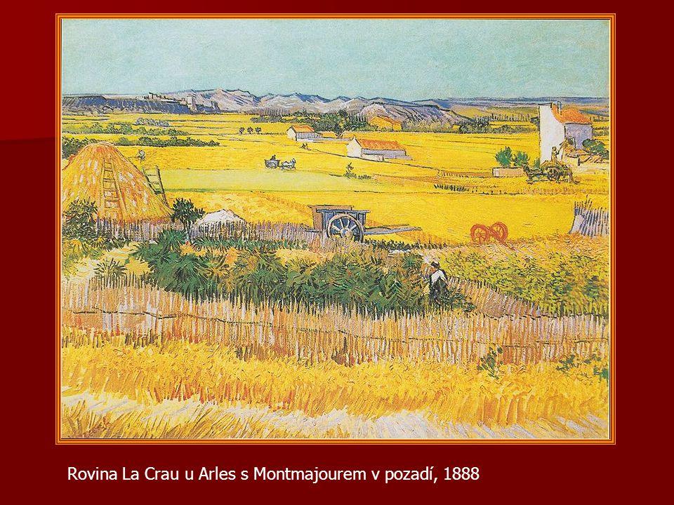 Rovina La Crau u Arles s Montmajourem v pozadí, 1888