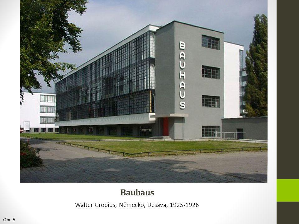 Bauhaus Walter Gropius, Německo, Desava, 1925-1926 Obr. 5