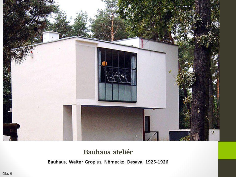 Bauhaus, ateliér Bauhaus, Walter Gropius, Německo, Desava, 1925-1926 Obr. 9