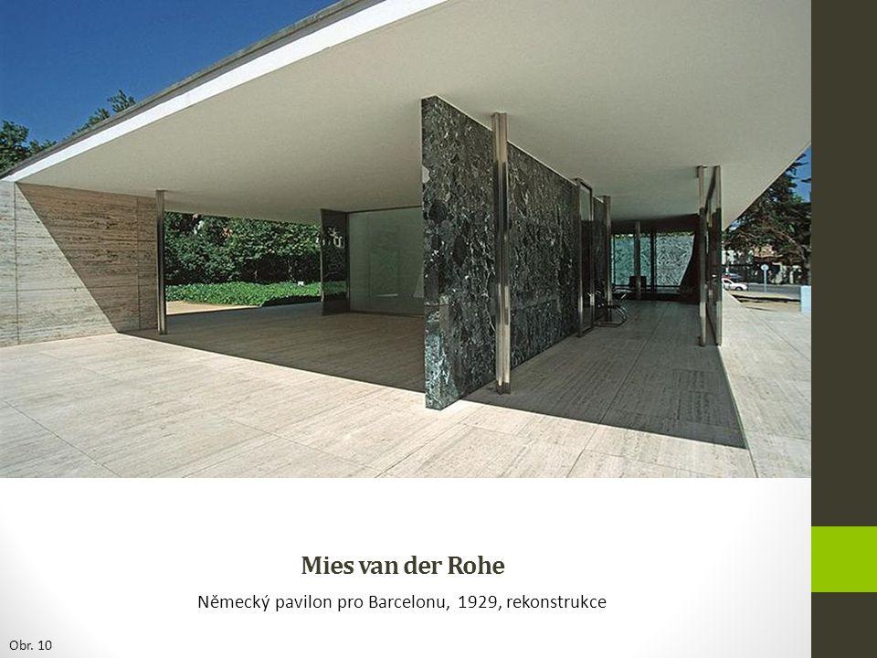 Mies van der Rohe Německý pavilon pro Barcelonu, 1929, rekonstrukce Obr. 10