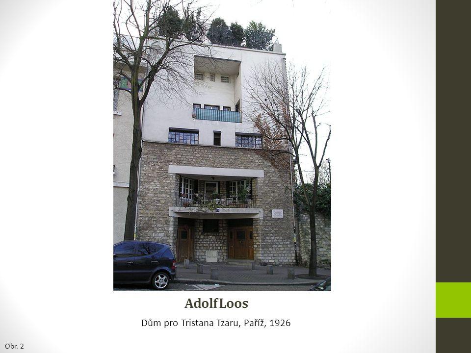 Adolf Loos Müllerova vila, Praha-Střešovice, Raumplan: řešení prostou vertikálně, různé úrovně http://www.mullerovavila.cz/ Obr.