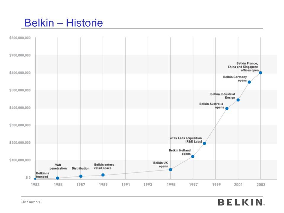 Slide Number 2 Belkin – Historie