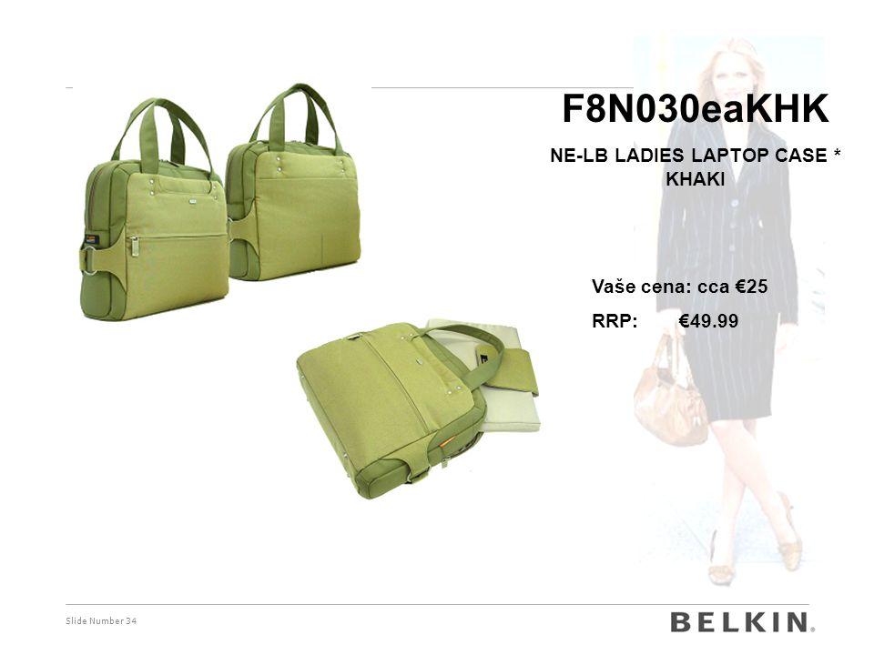 Slide Number 34 F8N030eaKHK NE-LB LADIES LAPTOP CASE * KHAKI Vaše cena: cca €25 RRP: €49.99
