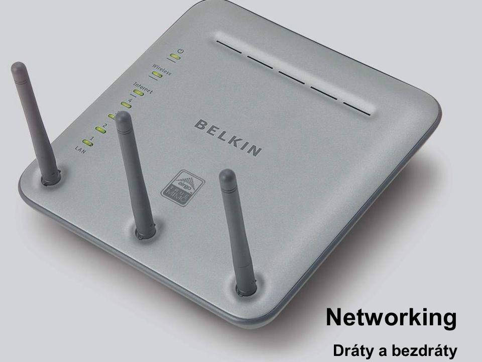 Slide Number 44 54G bezdr á tov é produkty PCI síťová karta Karta pro notebooky USB Adaptér Přístupový bod Cable / DSL směrovač ADSL Modem se směrovačem Print Server Ethernet Adapter F5D7230ee4 F5D7000eeF5D7010ee F5D7632ee4 F5D7050eeF5D7130ee F1UP0001eeF5D7330ee