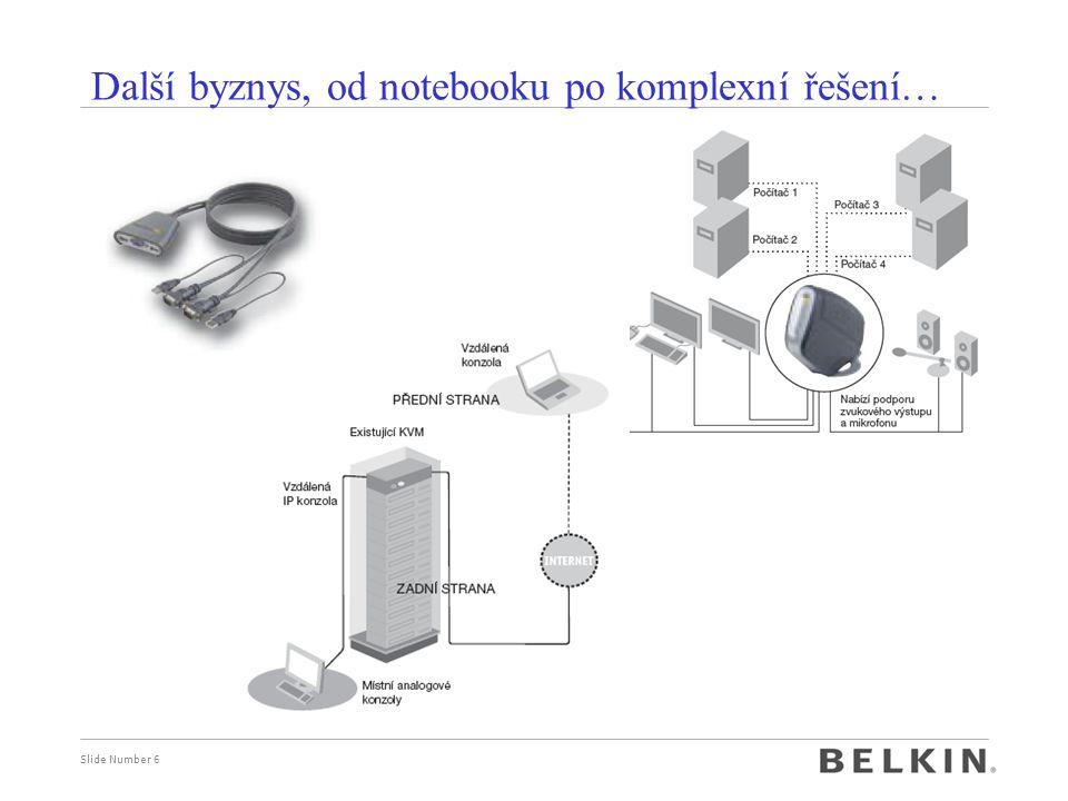 Slide Number 6 Další byznys, od notebooku po komplexní řešení…