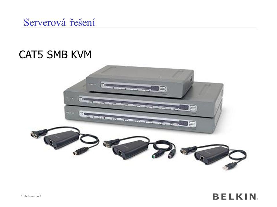 Slide Number 7 Serverová řešení CAT5 SMB KVM