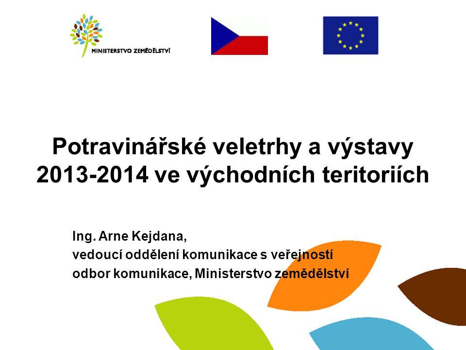 Potravinářské veletrhy a výstavy 2013-2014 ve východních teritoriích Ing.
