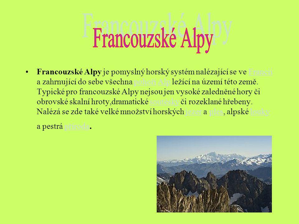 Francouzské Alpy je pomyslný horský systém nalézající se ve Francii a zahrnující do sebe všechna pohoří Alp ležící na území této země. Typické pro fra