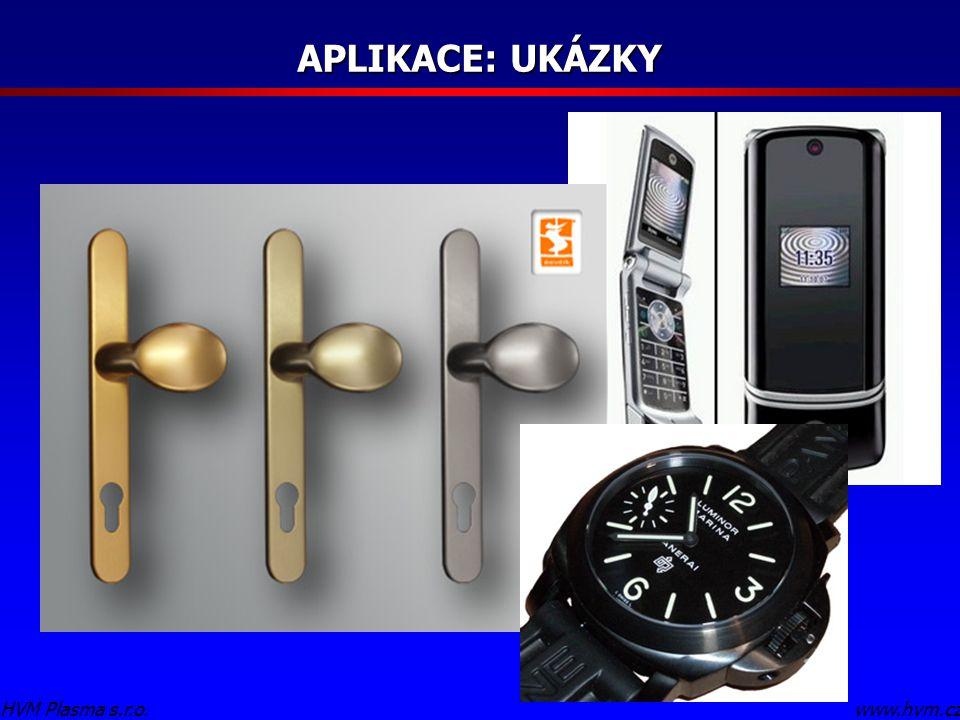 APLIKACE: UKÁZKY www.hvm.czHVM Plasma s.r.o.
