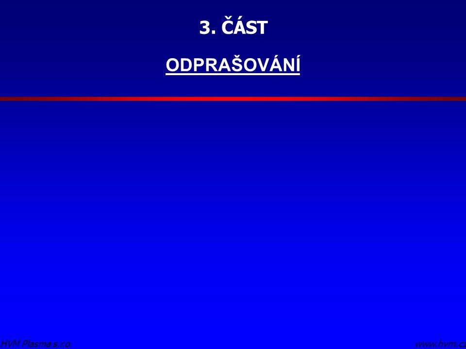 3. ČÁST ODPRAŠOVÁNÍ www.hvm.czHVM Plasma s.r.o.