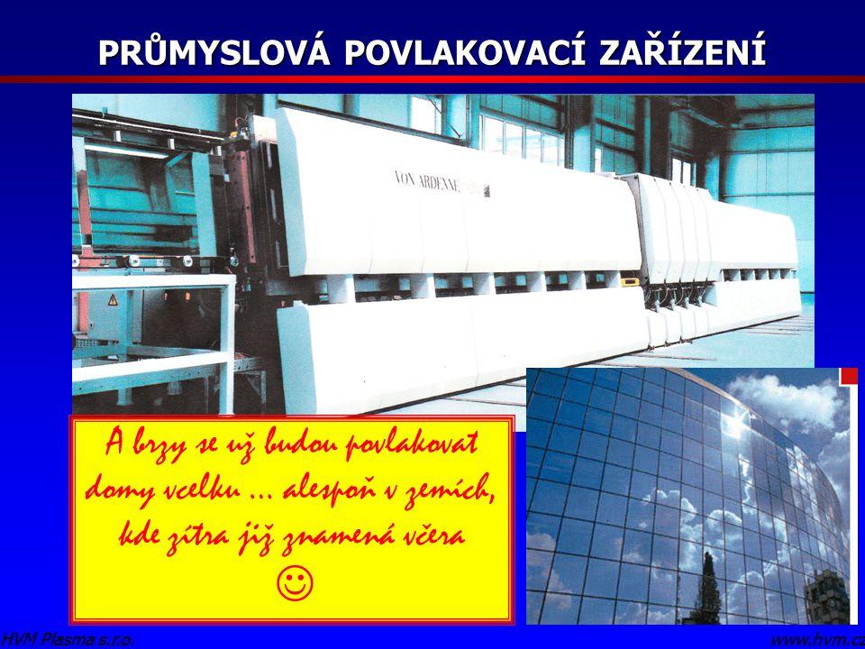 www.hvm.czHVM Plasma s.r.o. PRŮMYSLOVÁ POVLAKOVACÍ ZAŘÍZENÍ www.hvm.czHVM Plasma s.r.o. A brzy se už budou povlakovat domy vcelku … alespoň v zemích,