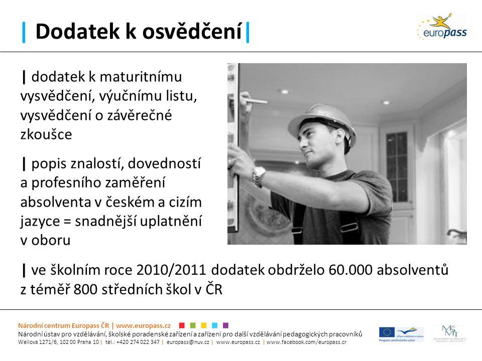 | Dodatek k osvědčení| Národní centrum Europass ČR | www.europass.cz Národní ústav pro vzdělávání, školské poradenské zařízení a zařízení pro další vz