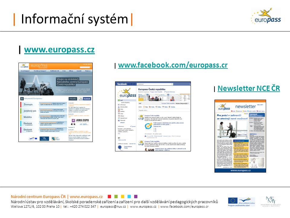 | Informační systém| Národní centrum Europass ČR | www.europass.cz Národní ústav pro vzdělávání, školské poradenské zařízení a zařízení pro další vzdě