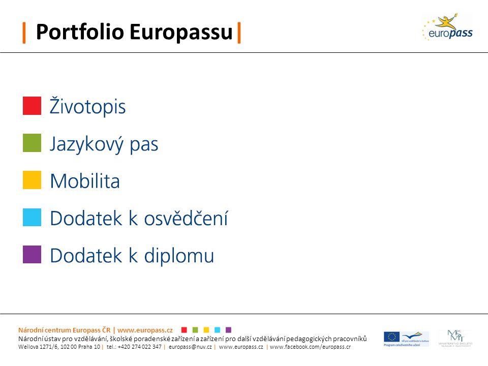 | Portfolio Europassu| Národní centrum Europass ČR | www.europass.cz Národní ústav pro vzdělávání, školské poradenské zařízení a zařízení pro další vz
