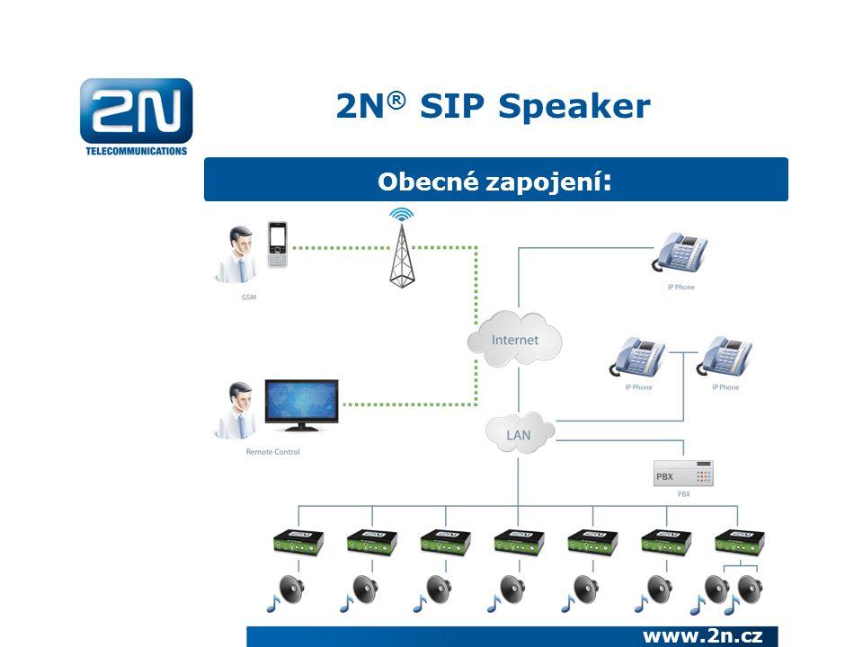 Obecné zapojení : 2N ® SIP Speaker www.2n.cz