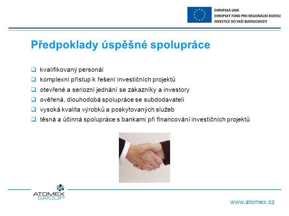 www.atomex.cz 1.Energetika 2. Ekologie, ČOV, úpravny vod 3.