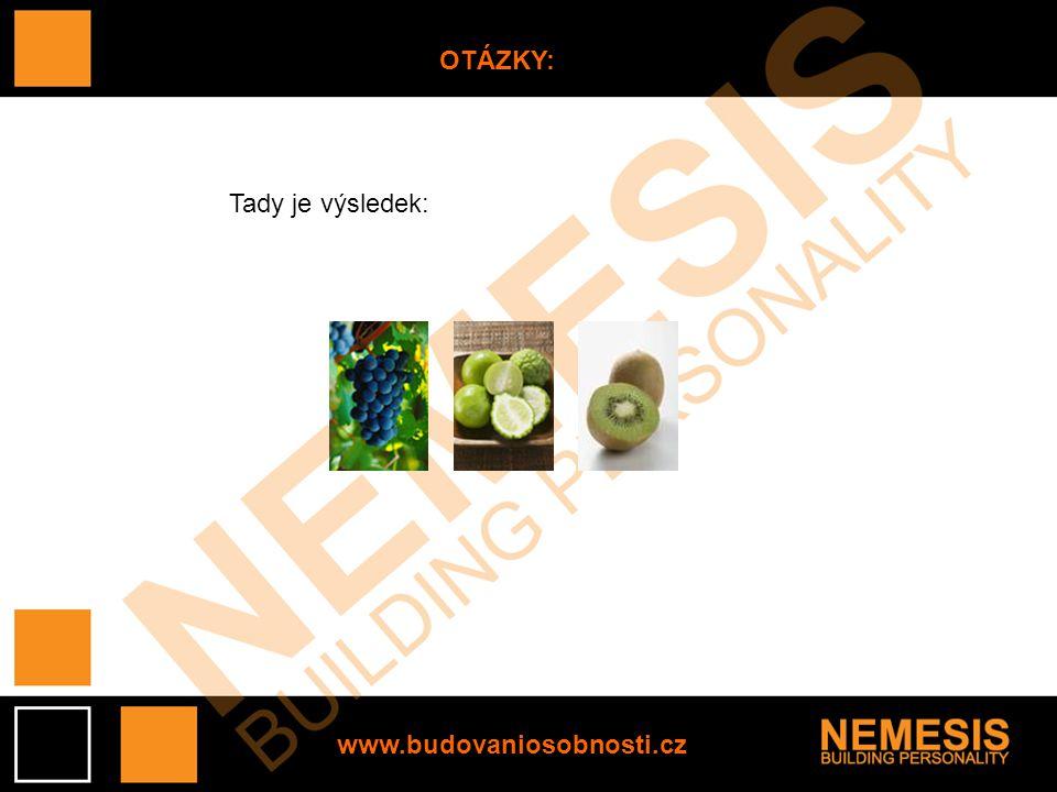 www.budovaniosobnosti.cz OTÁZKY: Tady je výsledek: