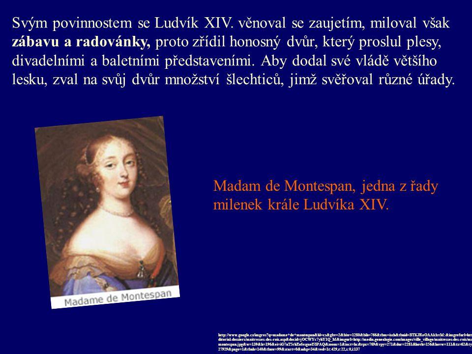 Svým povinnostem se Ludvík XIV. věnoval se zaujetím, miloval však zábavu a radovánky, proto zřídil honosný dvůr, který proslul plesy, divadelními a ba