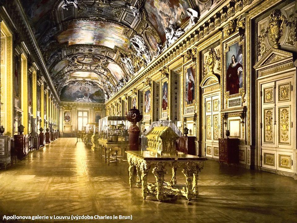 Apollonova galerie v Louvru (výzdoba Charles le Brun)
