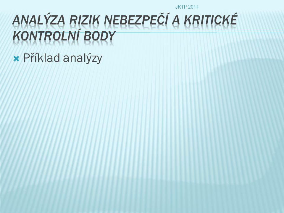  Příklad analýzy JKTP 2011
