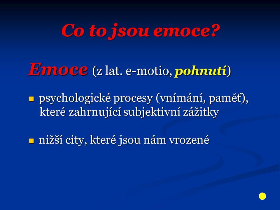 jde o chybění slov pro vyjádření emoce jde o chybění slov pro vyjádření emoce jedná se o poruchu identifikace a schopnosti popisu jedná se o poruchu identifikace a schopnosti popisu vlastních emocí vlastních emocí často si stěžují na různé tělesné příznaky, kterými ale často si stěžují na různé tělesné příznaky, kterými ale vyjadřují své emoce vyjadřují své emoce P ř í č iny:  Asymetrie mozku  Porucha komunikace mezi hemisférami mozku  Porucha funkce limbického systému  Vegetativní nebo imunitní porucha
