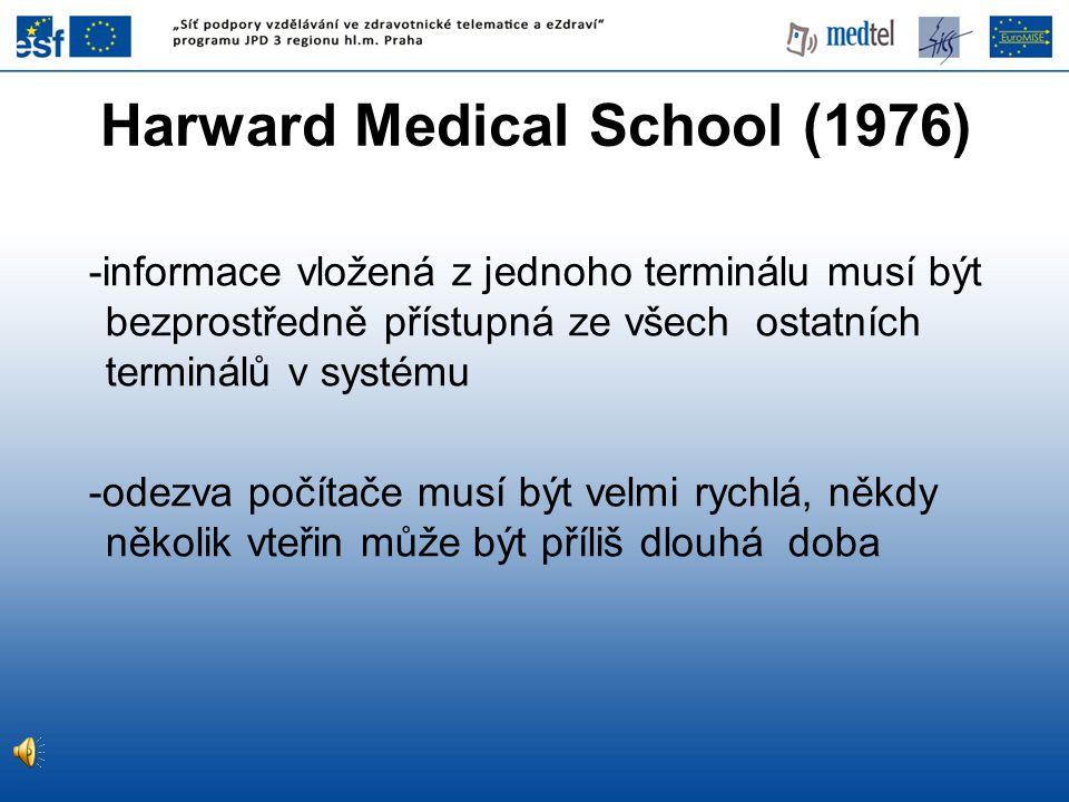 Další varianta z roku 1998 plánování služeb, operací atd., infekční nemoci, patologii, přepis textových údajů do strukturovaného záznamu, ECG, EKG, krevní banku, příjem nemocných, slovník pro zamezení víceznačnosti popisů, tvorbu zpráv, dlouhodobé (longitudinal) studie