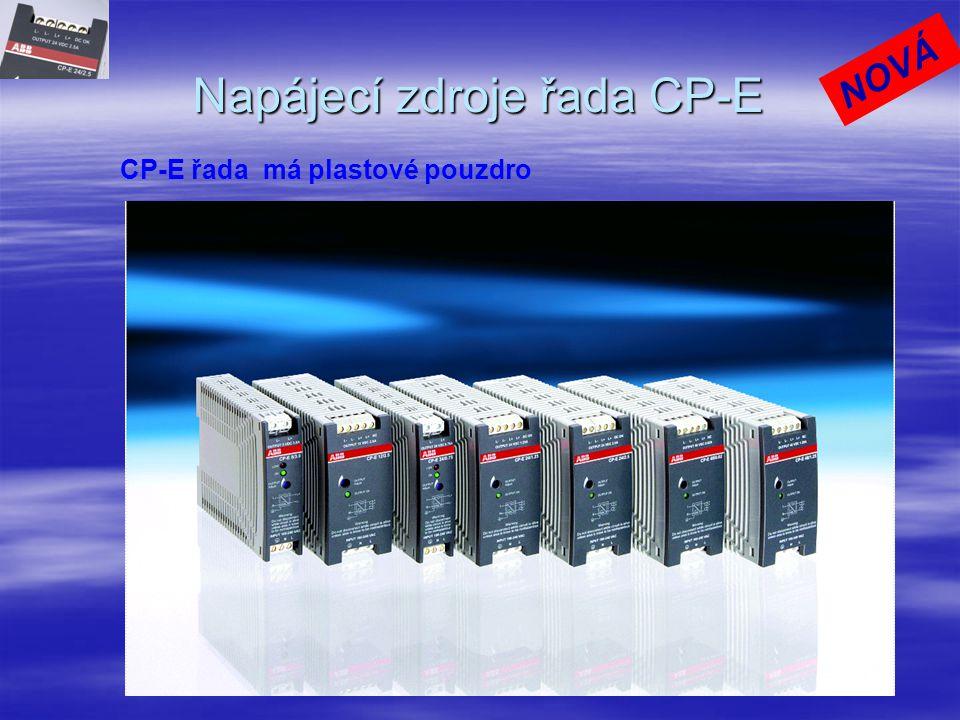 ABB vyrábí v současné době tři řady zdrojů  CP-E – ekonomická řada  CP-S – standardní řada  CP-C – komfortní řada