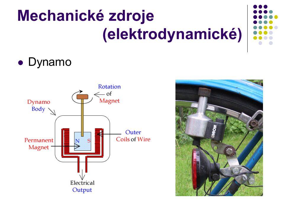 Mechanické zdroje (elektrodynamické) Dynamo