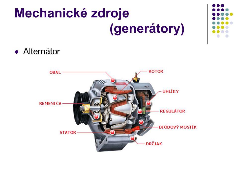 Mechanické zdroje (generátory) Alternátor
