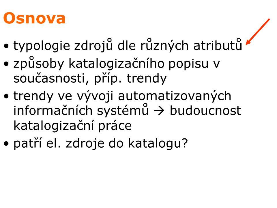 Typologie el.