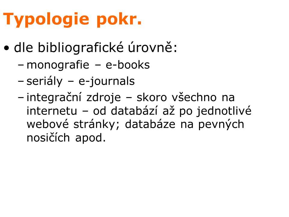 Typologie pokr.