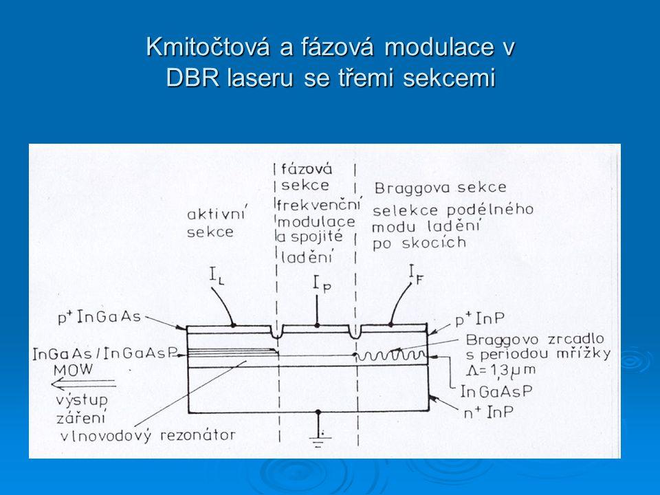 Kmitočtová a fázová modulace v DBR laseru se třemi sekcemi